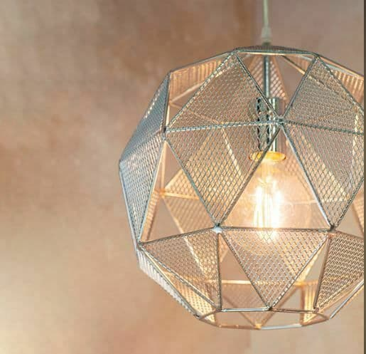 Armour Geometric Chrome Light Pendant